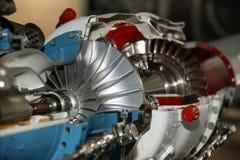 Detalle grande del motor de jet Fotos de archivo
