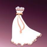 Detalle hermoso del cordón del vestido Fotografía de archivo libre de regalías