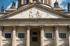 Detalle histórico hermoso de la fachada de la bóveda francesa en Gendarmen Fotografía de archivo libre de regalías