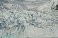 detalle Icefall del glaciar Imagen de archivo libre de regalías