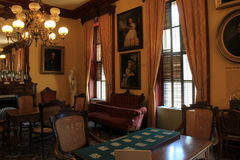 Detalle imponente en los muebles y los retratos, casino de Canfield, Saratoga Nueva York, 2016 Fotos de archivo