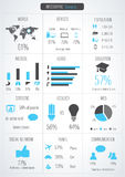 Detalle infographic Fotos de archivo