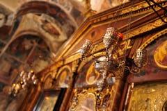 Detalle interior de la iglesia de Pantanassa Imágenes de archivo libres de regalías