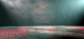 Detalle interior del espacio vacío y cinemático ilustración del vector