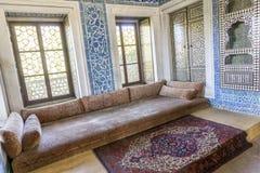 Detalle interior del palacio de Topkapi, Estambul, Turquía Imagen de archivo libre de regalías