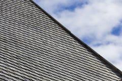Detalle inusual de la teja de tejado fotos de archivo