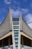 Detalle inusual del tejado fotografía de archivo libre de regalías