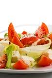 Detalle italiano de la ensalada de Caprese imagen de archivo
