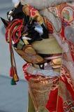 Detalle japonés de la tela del kimono Imagenes de archivo