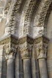 Detalle la puerta del norte, catedral de Tudela, Navarra, Fotografía de archivo