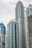 Detalle la vista del emplazamiento de la obra de la casa en Dubai Imagenes de archivo