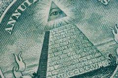 Detalle macro de la pieza del dólar Imagen de archivo