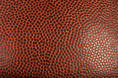 Detalle macro del fútbol o del baloncesto Imagenes de archivo