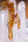 Detalle macro del fragmento derretido del concentrado del aceite del cáñamo aka foto de archivo libre de regalías