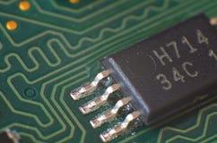 Detalle macro del microprocesador electrónico Foto de archivo