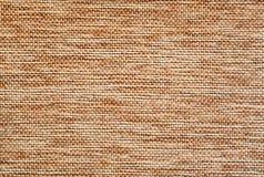 Detalle marrón claro de la superficie de la arpillera Imagen de archivo