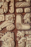 Detalle maya de los jeroglíficos imagen de archivo libre de regalías
