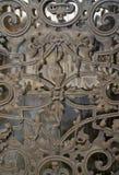 Detalle adornado de la puerta Foto de archivo libre de regalías
