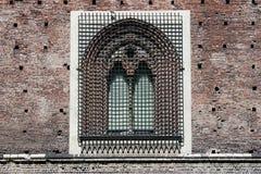 Detalle Milan Italy de Castello Sforzesco imagen de archivo
