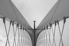 Detalle moderno de la configuración Fondo abstracto de la arquitectura, blanco y negro Imagen de archivo libre de regalías