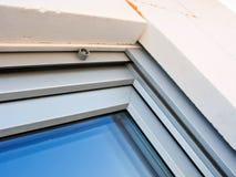 Detalle moderno de la instalación de las ventanas Fotos de archivo libres de regalías