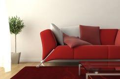 Detalle moderno de la sala de estar del diseño interior ilustración del vector
