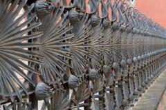 Detalle oxidado de la cerca del hierro foto de archivo libre de regalías
