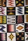 Detalle peruano de la materia textil Imagenes de archivo