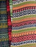 Detalle peruano de la materia textil Foto de archivo libre de regalías