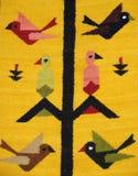 Detalle peruano de la materia textil Fotografía de archivo