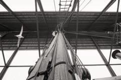 Detalle polar de la nave de la expedición de Fram Imagenes de archivo