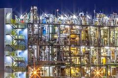Detalle químico industrial de la fábrica foto de archivo
