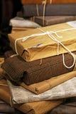 Detalle reciclado de los regalos Fotografía de archivo