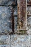 Detalle resistido de madera y de la pared Foto de archivo libre de regalías
