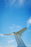 Detalle retro de la cola del vintage del aeroplano Imagenes de archivo