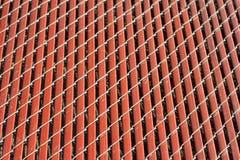 Detalle rojo de la cerca del fondo Foto de archivo libre de regalías