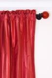 Detalle rojo de la cortina Fotos de archivo