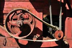 Detalle rojo de la trilladora Imagen de archivo libre de regalías