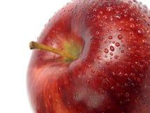 Detalle rojo oscuro de la manzana Imagenes de archivo