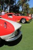 Detalle rojo y blanco 04 de la parte delantera de Ferrari del vintage Foto de archivo libre de regalías