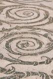 Detalle romano del piso de mosaico Foto de archivo libre de regalías