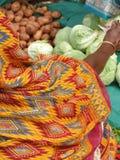 Detalle, saris coloreadas brillantes imagen de archivo libre de regalías