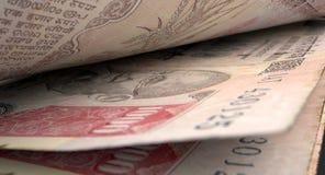 Detalle separado del primer de los billetes de banco Imagenes de archivo
