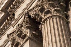 Detalle superior de las columnas del Corinthian Fotos de archivo libres de regalías