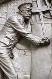 Detalle titánico del monumento de los ingenieros Fotos de archivo