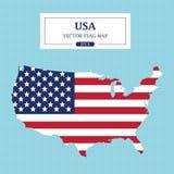 Detalle a todo color de la bandera del mapa de los E.E.U.U. alto stock de ilustración