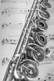 Detalle transversal de la flauta Foto de archivo libre de regalías