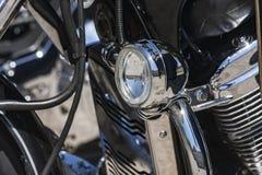 Detalle turístico de la motocicleta Foto de archivo libre de regalías
