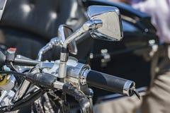 Detalle turístico de la motocicleta Imagen de archivo libre de regalías