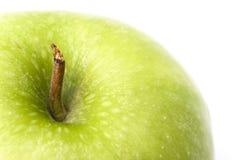 Detalle verde de la manzana Fotos de archivo